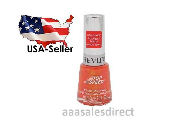NEW Revlon CHARMED 410 - 0 5 Fl Oz Top Speed Fast Dry Nail Polish Enamel