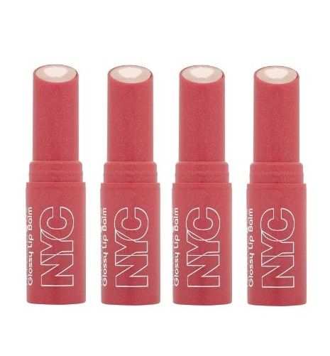 LOT-OF-4-NYC-New-York-Color-Applelicious-Glossy-Lip-Balm-Blushing-Golden-350-301942909955