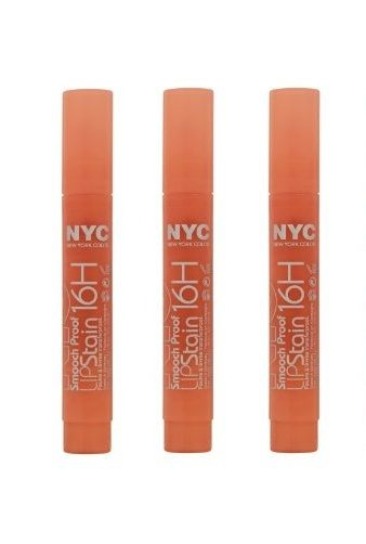 LOT-OF-3-NYC-Smooch-Proof-16H-Lip-Stain-504-Orange-On-The-Go-301947631447