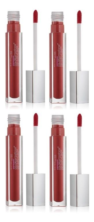LOT-OF-4-Maybelline-Sensational-High-Shine-Lip-Gloss-80-Gleaming-Grenadine-301941158727
