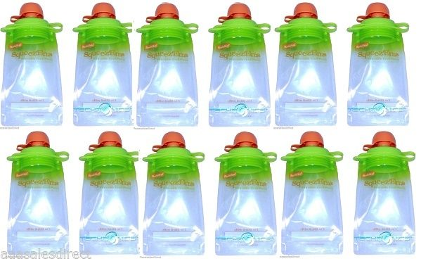 12-Pack-Refillable-Baby-Food-Pouch-great-for-snacks-and-Drinks-USA-seller-302118806329