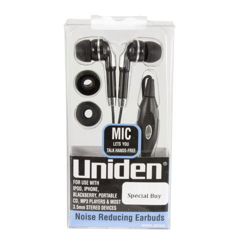 Uniden-Noise-reducing-Earbuds-with-Microphone-291925775149